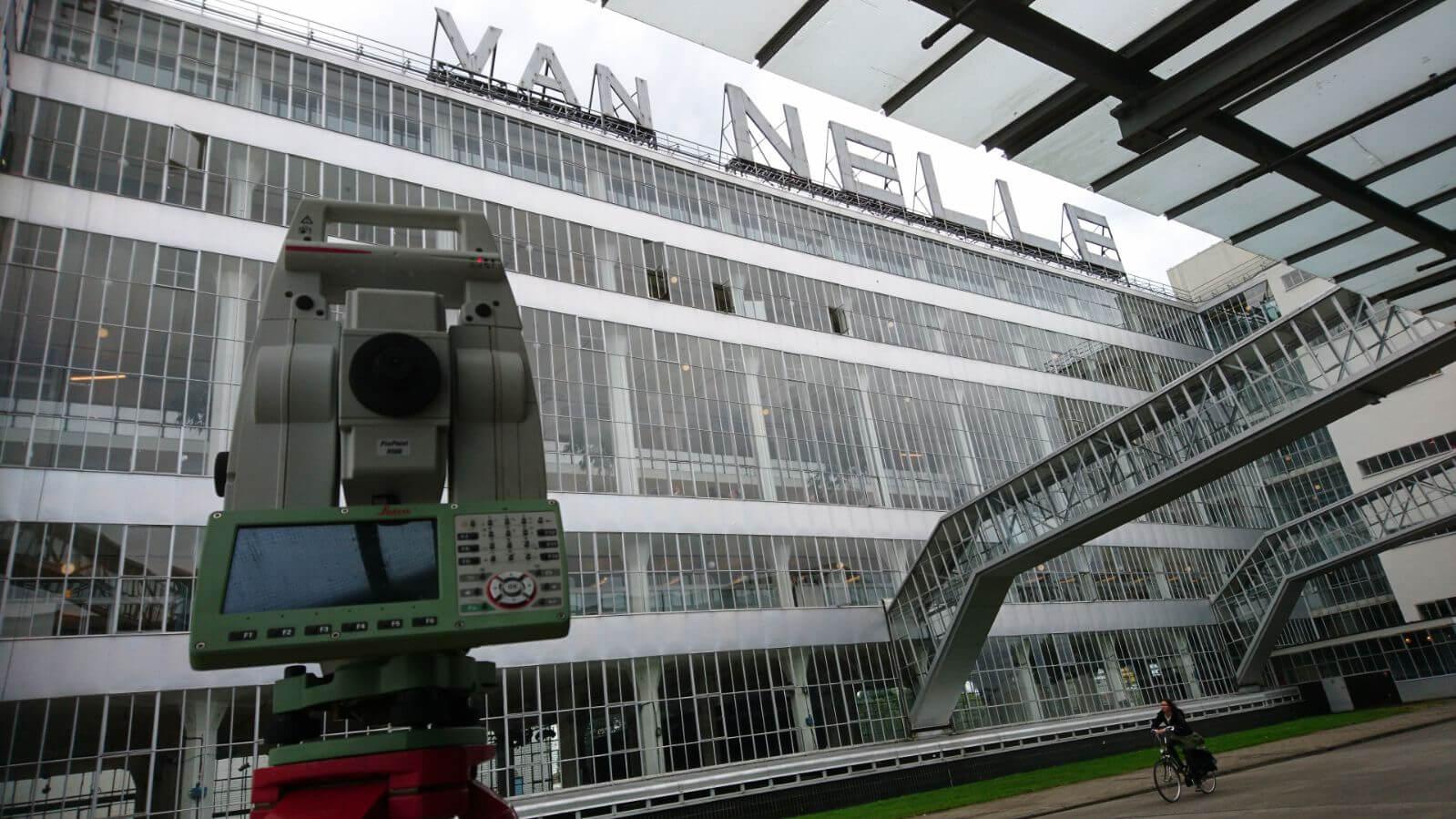Geovalk Landmeetkunde Inmeting terrein en bebouwing Van Nelle fabriek